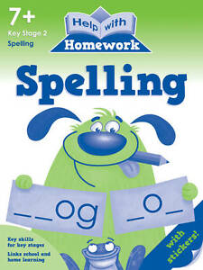 Help With Homework - Spelling - 7+ Key Stage 2 *FREE P&P*