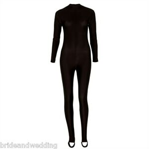 NEW-Ladies-Long-Sleeve-Catsuit-ALL-COLOURS-SIZES