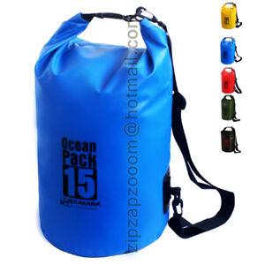 Karana-Ocean-Dry-Pack-Waterproof-Kayak-Day-Shoulder-Rucksack-Bag-Duffle-Sack-15L