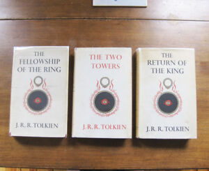 THE-LORD-OF-THE-RINGS-TRILOGY-J-R-R-Tolkien-1st-1956-George-Allen-UK-hobbit-VG
