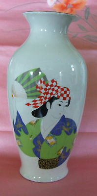 Nice Japanese vintage Porcelain Japanese Dancer vase