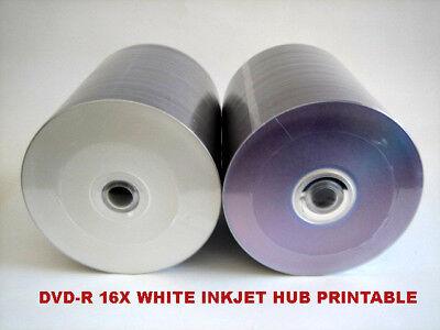 600 Inkjet White Hub Printable Blank Dvd-r Dvd 16x Disc