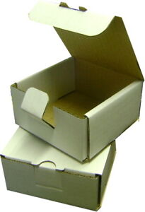 25 Small White Mailing Shipping Gift Boxes 4.25x4.25x2