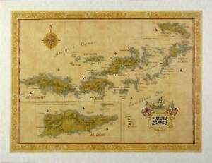 Antique-Style-VIRGIN-ISLANDS-Map
