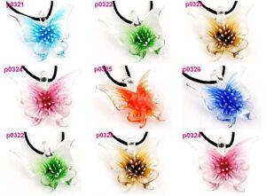 12-Lifelike-Butterfly-art-lampwork-glass-pendant-p321-6