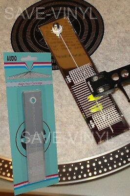 Turntable Phono Cartridge Stylus Alignment Protractor Tool Mirror on Rummage