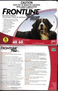 Frontline Plus for Dogs 89-132lbs 6 Months Doses NEW IN BOX