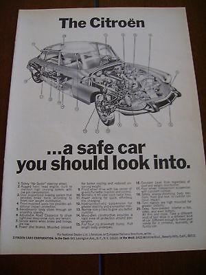 1968 CITROEN   ***ORIGINAL VINTAGE AD***