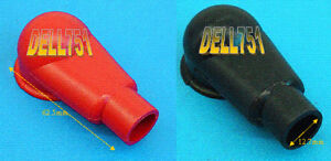 Pair of BLACK & RED RUBBER TERMINAL COVERS  405N9VO2