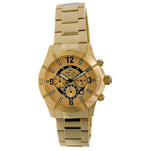 Invicta-1423-Gold-Plated-Mens-100M-WR-Chronograph-Watch