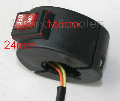 Electric Scooter On/off Switch With 3 Wires Fit 7/8 Handle Bar