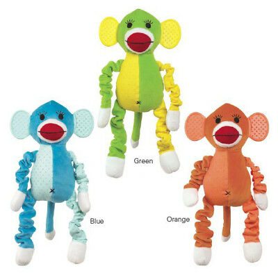 Zanies Plush Dog Toy Funky Monkey Squeaky Dog Toy