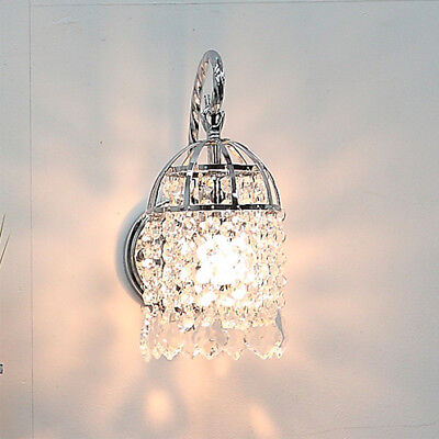 Glass Crystal Wall Lamp Light Sconce Lighting Chrome Finish on Rummage