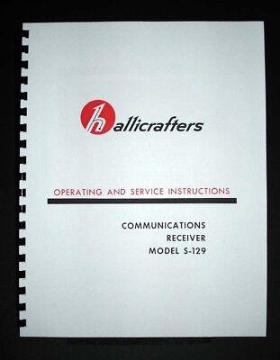 Hallicrafters S-129 S129 Receiver Manual Ham Shortwave