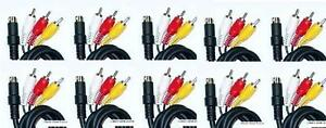10-NEW-LOT-9-Pin-Stereo-RCA-AV-A-V-Cables-Cord-For-Sega-Genesis-3-System-Console