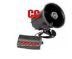 12v Car van & boat horn siren 6 novelty tones VERY LOUD