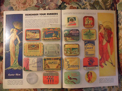 1979 Magazine Article ART Page Vintage Condoms Packages