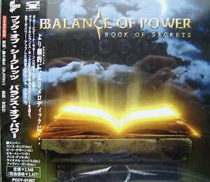 Balance Of Power - Book of secrets (Japan OBI) - <span itemprop='availableAtOrFrom'>Mikolów, Polska</span> - Balance Of Power - Book of secrets (Japan OBI) - Mikolów, Polska