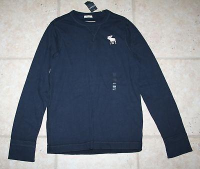 Abercrombie Boy Large 12 Muscle Ls Blue Shirt