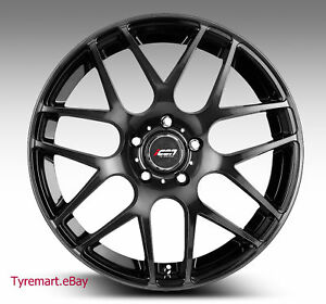 19-WHEELS-RIMS-MAGS-19x8-5-Black-HOLDEN-COMMODORE-VE-VF-BMW-E46-HRE-STYLE