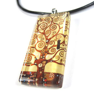 THE-TREE-OF-LIFE-Glass-Tile-Pendant-With-Necklace