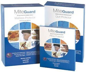 MiteGuard-Dust-Mite-Allergy-QUEEN-Size-Bed-Mattress-Protector-Bedding-SALE