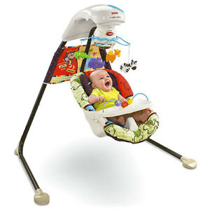 FISHER-PRICE-LUV-U-ZOO-INFANT-BABY-CRADLE-SWING-NEW