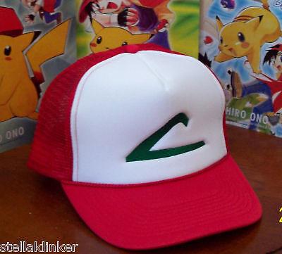 Pokemon Trainer Costume - Ash Ketchum Hat - Cosplay - - Usa Seller