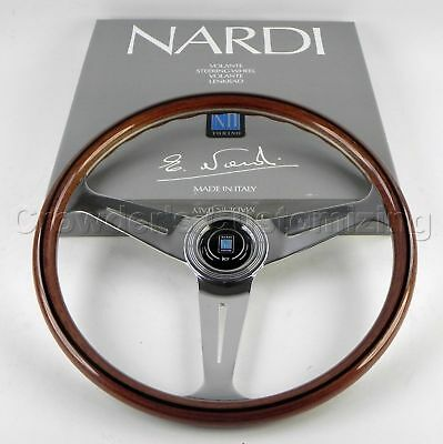 Nardi Steering Wheel Classic Wood Polished 390 mm New 5061.39.3000 Made in Italy