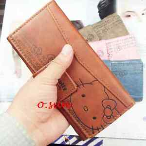 New Hello kitty Long Wallet Purse Card Passport Holders