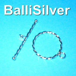 3-sets-Sterling-Silver-925-23mm-very-large-Twisted-TOGGLE-CLASPS-Jewelry-Making
