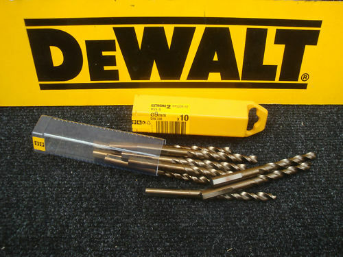 PACK OF 10 X DT5555 DEWALT EXTREME 2       9MM HSS-G METAL DRILL BITS