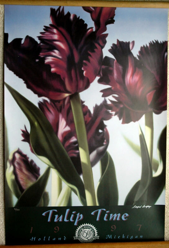 Original 1997 Holland Mi, Tulip Time Poster Signed By Winifred Godfrey