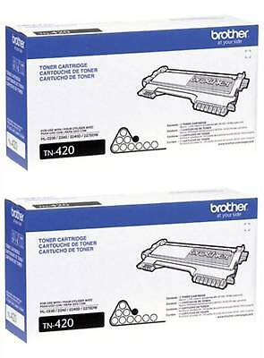 Brother Tn420 (tn-420) Black Toner Cartridge 2-pack