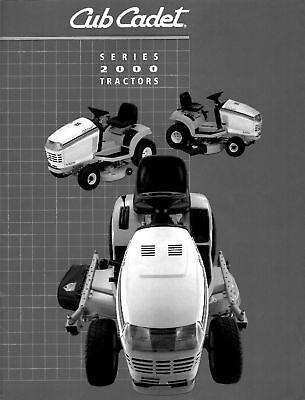 Cub Cadet Model 2000 Series Tractors Sales Brochure