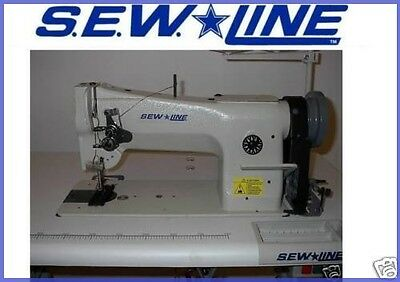 SEW LINE SL-206-RB NEW LEATHER WALK FT REV  HEAD ONLY  INDUSTRIAL SEWING MACHINE