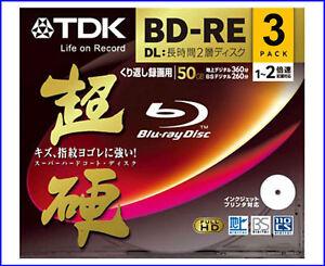 3-TDK-Bluray-Disc-BD-RE-DL-Blu-Ray-50GB-Blueray-Dvd-2X