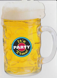 BEER-MUG-PARTY-INVITATIONS-Bachelor-Birthday-Sports-Tailgate-Frat-Barbecue-NEW