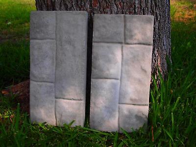 2 Paver Stone Plastic Molds Concrete/plaster