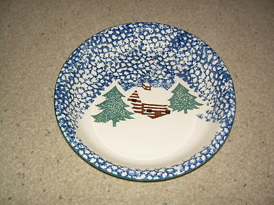 Tienshan Cabin In The Snow Round Serving Vegetable Bowl Mint Free Ship
