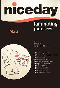 36 A4 matt laminating pouches nice day laminator for areas of high illumination