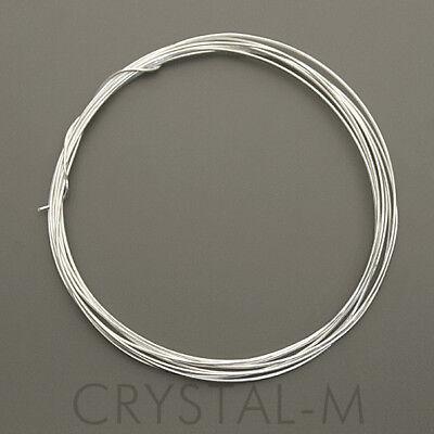 1 Meter Silberdraht; 925 Silber; Sterlingsilber 0,4 mm