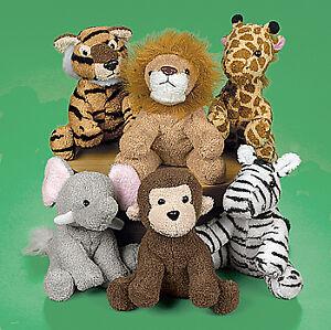 12-Zoo-Safari-Jungle-PLUSH-STUFFED-ANIMAL-ASSORTMENT