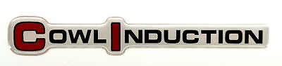 Cowl Induction Ci 3d Emblem Satin Chrome
