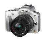 Panasonic LUMIX DMC-G3 16.7 MP Digital SLR Camera - White (Kit w/ 14-42mm Lens)