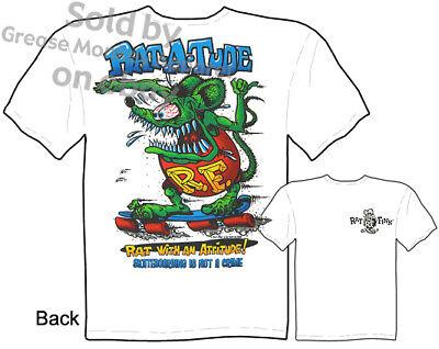 Ed Roth Rat Fink T Shirt Big Daddy Apparel Rat-a-tude Tee, Sz M L Xl 2xl 3xl