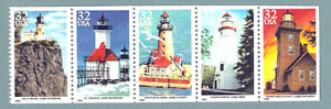2969-73a Great Lakes Lighthouses Strip Of 5 Mint/nh