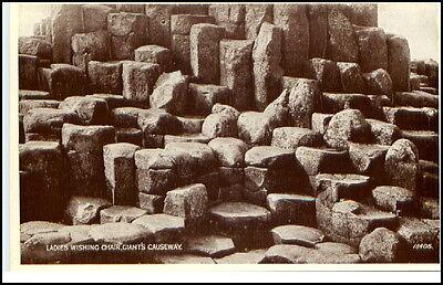 Nordirland Giant´s Causeway ~1930 Ladies Wishing Chair