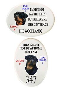 ROTTWEILER-DOG-HOUSE-WARNING-SIGN-NAME-OR-NUMBER-OVAL