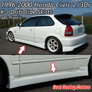 K1 CS Style Side Skirts (ABS) Fits 96-00 Honda Civic 2/3dr